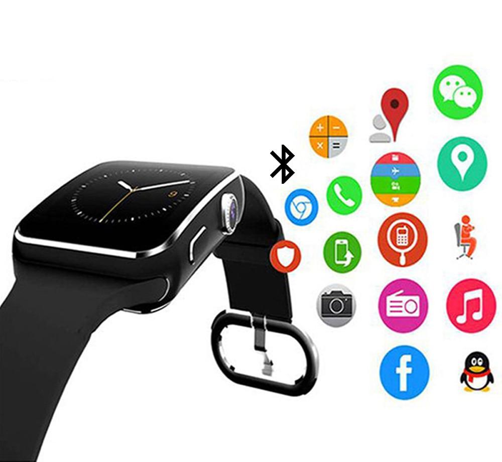 Freundlich X6 Bluetooth Smart Uhr Smartwatch Curve Touch Screen Telefon Sport Fitness Schrittzähler Kamera Für Android Pk Dz09 Gt08 A1 Elegant Im Stil Unterhaltungselektronik