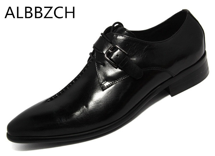 Mens fashion sewing buckle design genuine leather dress shoes men derby stlye career work shoes black brown coffee wedding shoesMens fashion sewing buckle design genuine leather dress shoes men derby stlye career work shoes black brown coffee wedding shoes