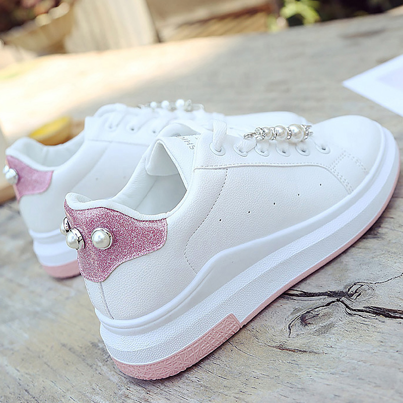 Crystal White summer women's shoes platform sneakers Breathable casual shoes for girls designer sneakers zapatillas mujer цены онлайн