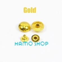 500pcs/lot 5mm Gold Round Rivet Metal Spike Studs Leathercraft DIY Fashion Biker Rapid Punk Rock Free Shipping