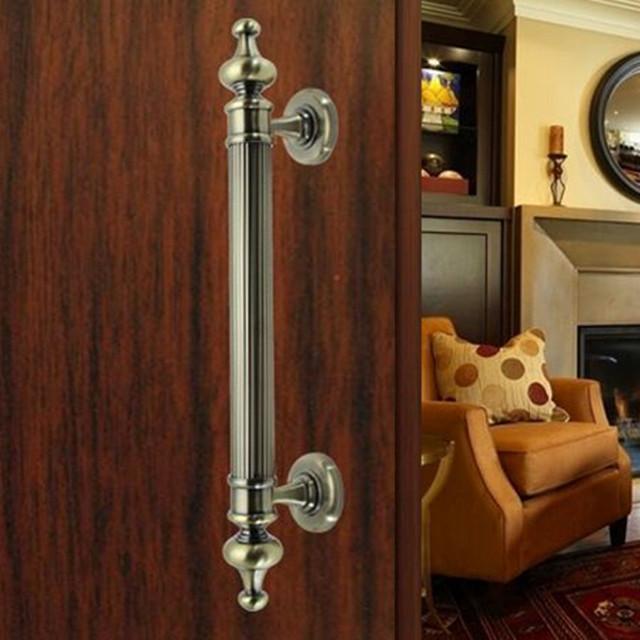 340mm de bronze do vintage porta de madeira desdobrar instalar maçanetas cobre antigo ktv, hotel de escritório, casa de madeira porta puxa acessórios