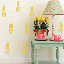 Large 12 Pineapples Wall Sticker Removable Pineapples Wall Decals,Kids Room Wall Party Art Decoration with Free Shipping