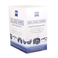 ZEISS Pre Moistened Cleaning lens Cloths Eyeglasses LCD Screen Sensor Glasses Phone Cleaner Camera Lens Wipes pack of 200