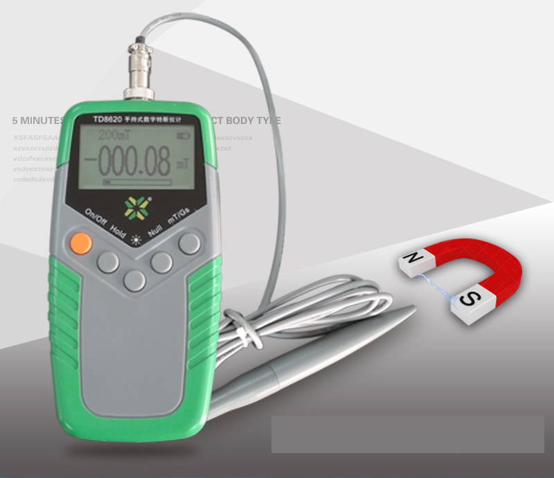 portable Tesla and Gauss measure Magnetic force detector Accuracy 1%-5% Magnet field intensity value