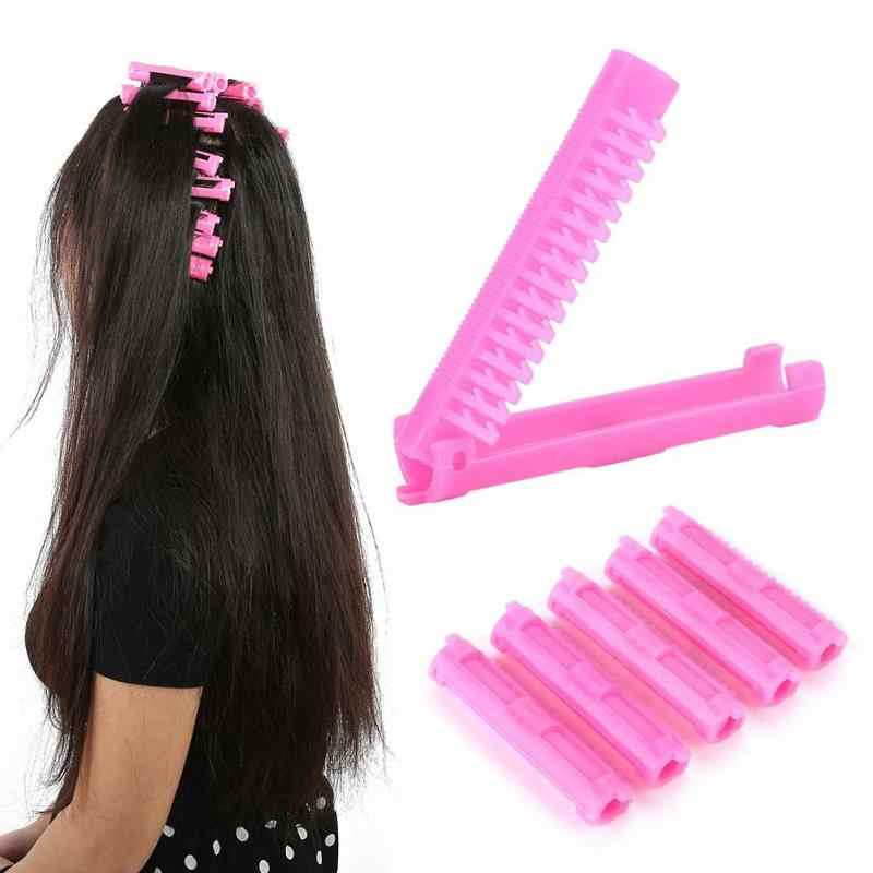 Folding Hair Rollers Curlers Bang Perm Hair Root Perming