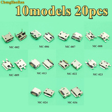 10models Universal Micro USB DC Jack Connector power Charging socket female plug for ZTE Lenovo Huawei Mobile Phone Tablet 5Pin 10pcs g19y micro usb 5pin female connector for mobile phone micro usb charging socket straight mouth sale at a loss russia