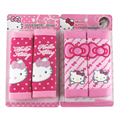 2pcs/set Hello kitty Seat Belt Cover Shoulder Pad Cartoon Car Safety Belt Soft Strap Protection Ceinture Car-Covers