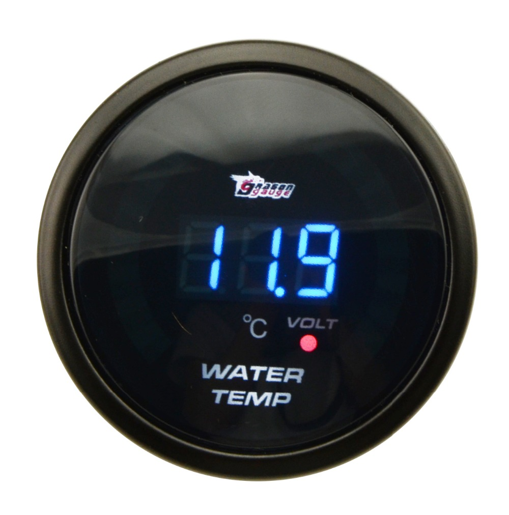 2 52MM Auto CAR Analog LED Digital Water Temp Temperature Gauge