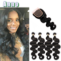 Brazilian Body Wave With Closure 8a Virgin Brazilian Hair 4 Bundle Deals With Closure Queen Weave Beauty Closure And Bundle