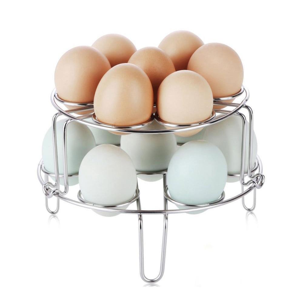 Egg Steamer Rack Trivet for Instant Pot Pressure Cooker Accessories 9 Hole