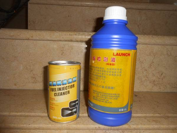 Original LAUNCH Cleaning liquid and Testing liquid for <font><b>CNC602A</b></font>,601A,801A and other Fuel Injector Cleaner And Tester image
