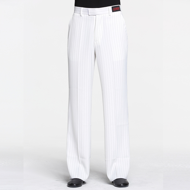 2019 Latin Dance Pants Men Stripe Trousers Rumba Samba Salsa Competition Dancing Clothes Practice Dancewear Mens 4 Colors DN2868