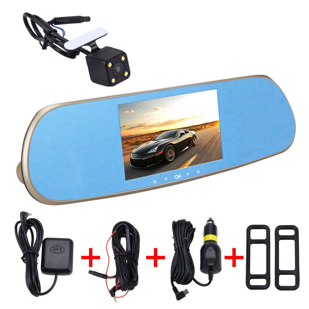 5 HD 1080P Android GPS Navigator WiFi Car Dash DVR Dual Lens Mirror+Rear Camera навигатор gps lexand sa5 hd 5 sa5 hd