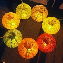 Hand-painted paper lanterns for children dance props, hand-painted festive parties Decoration