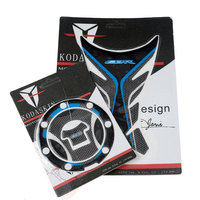 KODASKIN 3D Printing Gas Cap Fuel Tank Pad Sticker Protection Decal for Honda CBR600RR CBR1000RR blue