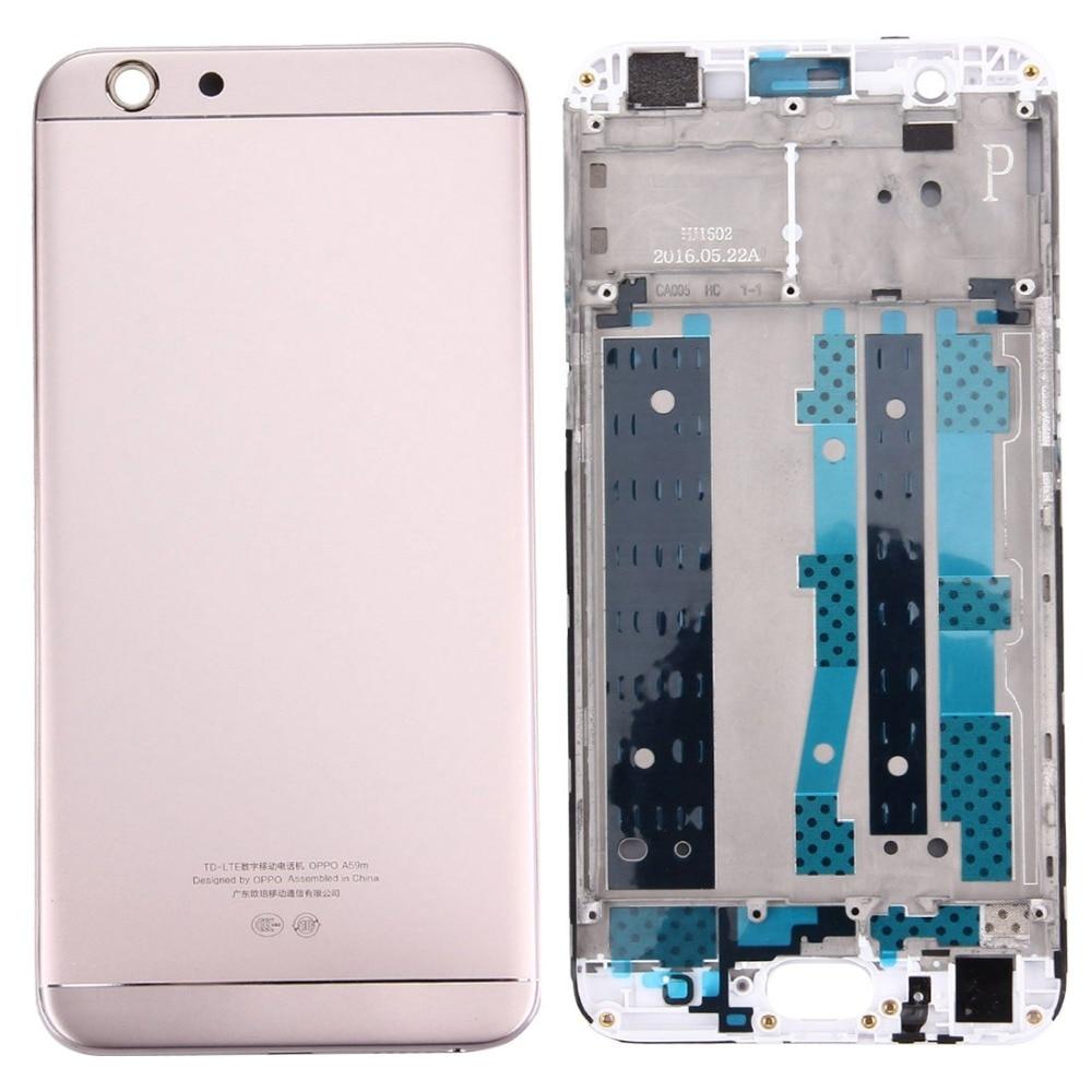 Battery Back Cover + Front Housing LCD Frame Bezel Plate For OPPO A59 / F1s