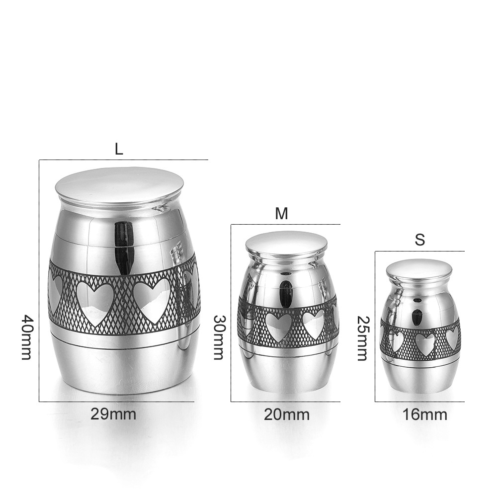 Creative Stainless Steel Urn Cremation Pendant Ash Holder Mini Keepsake Jewelry