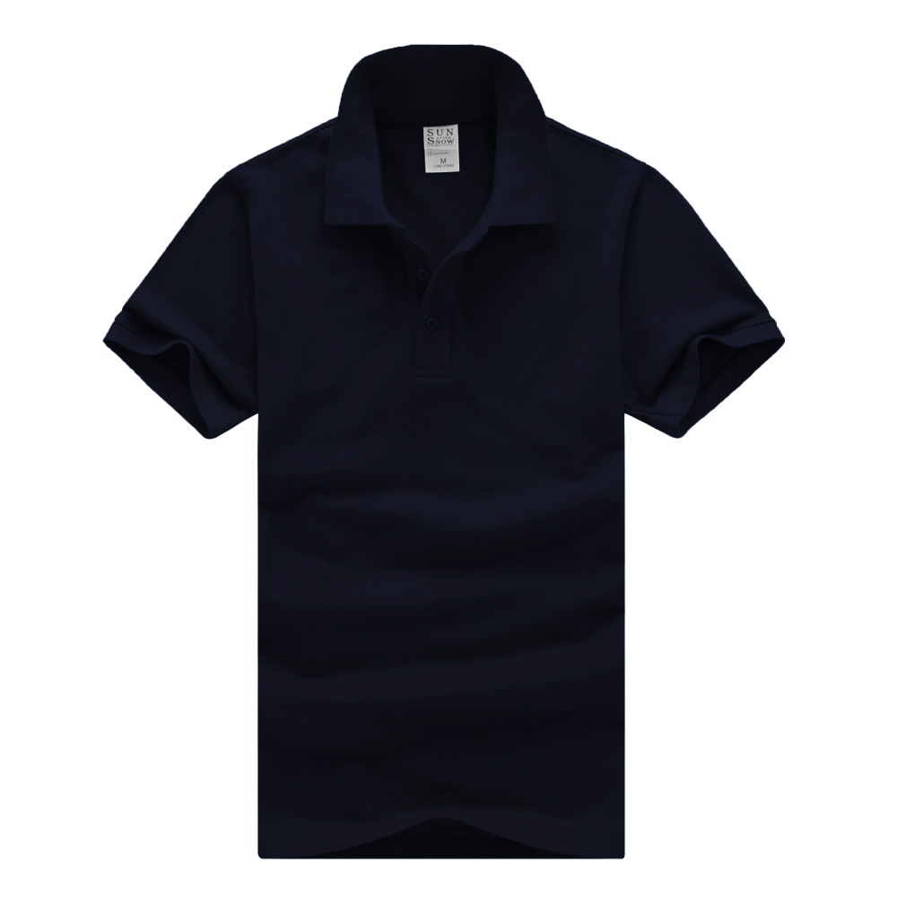 2017 new men polo shirt men 39 s business casual solid for Business casual polo shirt