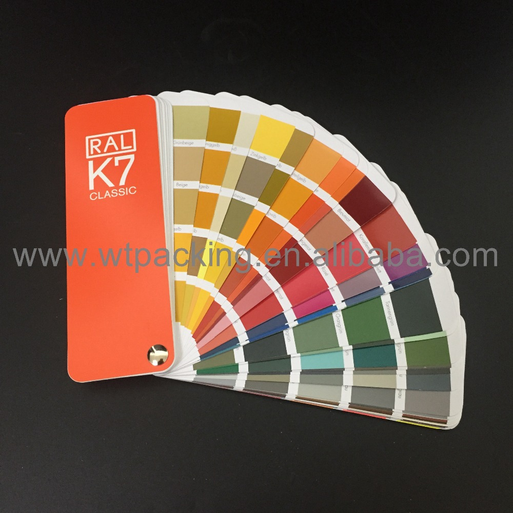 1 book German RAL Color Guide K7 Color Fan Deck With 213 RAL CLASSIC colours ral k7 paint color page chip card brochure