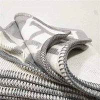 Lannidaa Blanket Fashion Knitted Large Super Soft Flying Thread Throw Wool & Cashmere Blanket For Adults Yarn Dyed Plaid Blanket