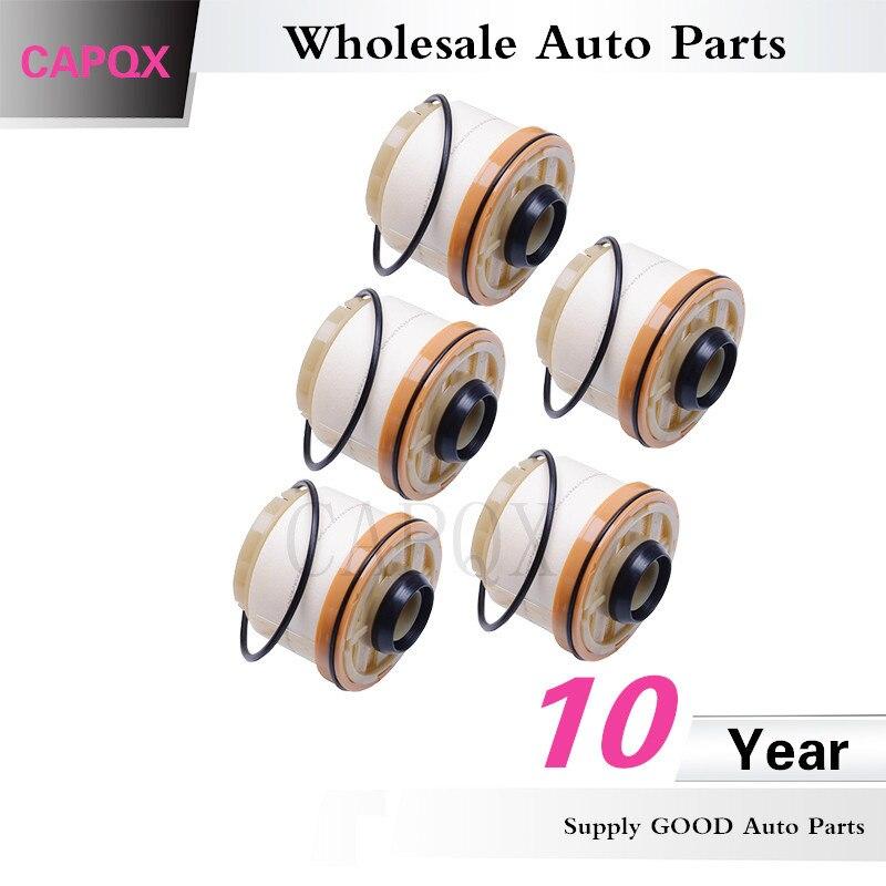 Capqx 5pcs Wholesale Auto Fuel Filter Diesel Filter Element 23390 0l041 For Hilux Hiace Fortuner