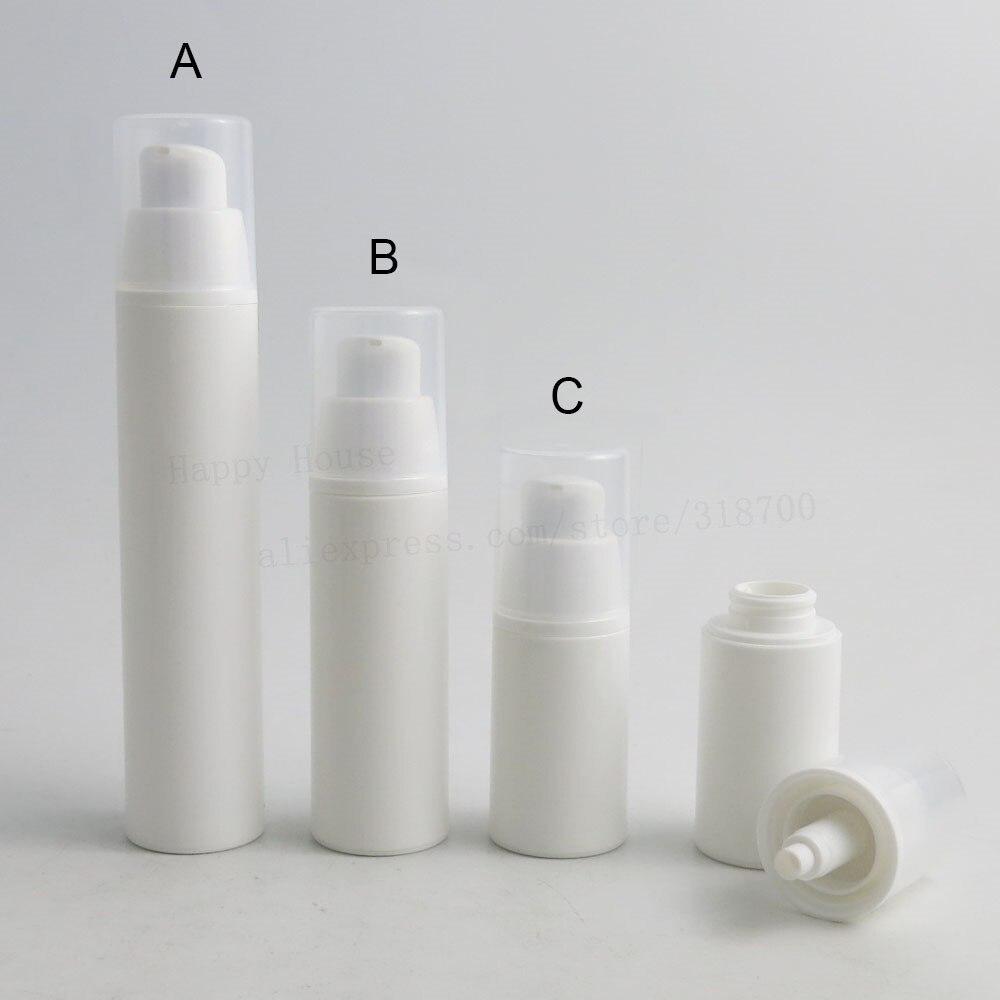 Güzellik ve Sağlık'ten Doldurulabilir Şişeler'de 50 adet x taşınabilir 15ml 30ml 50ml havasız losyon pompa dağıtım şişeleri 1oz boş beyaz PP kozmetik vakum ambalaj kabı'da  Grup 1