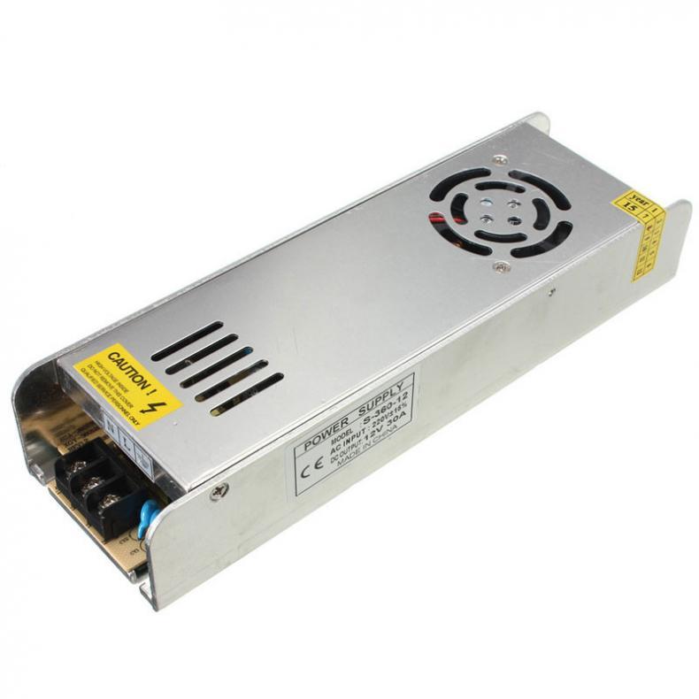 Dodavatel napájení pro domácí / kancelářské lampy Přepněte nový mini přepínací zdroj napájení 220V na 12V 30A 360 W pro LED pásové světlo