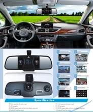 On sale 5″ Android 4.0 dual-lens Car Rear View Mirror 1080P Car DVR HD night vision car rear view camera GPS BT USB WIFI MP5 8g sd Card