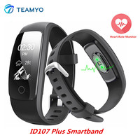 Teamyo ID107 Plus Sports Smartband Heart Rate Monitor Guided Breathing Fitness Tracker Smart Wristband Bracelet IP67
