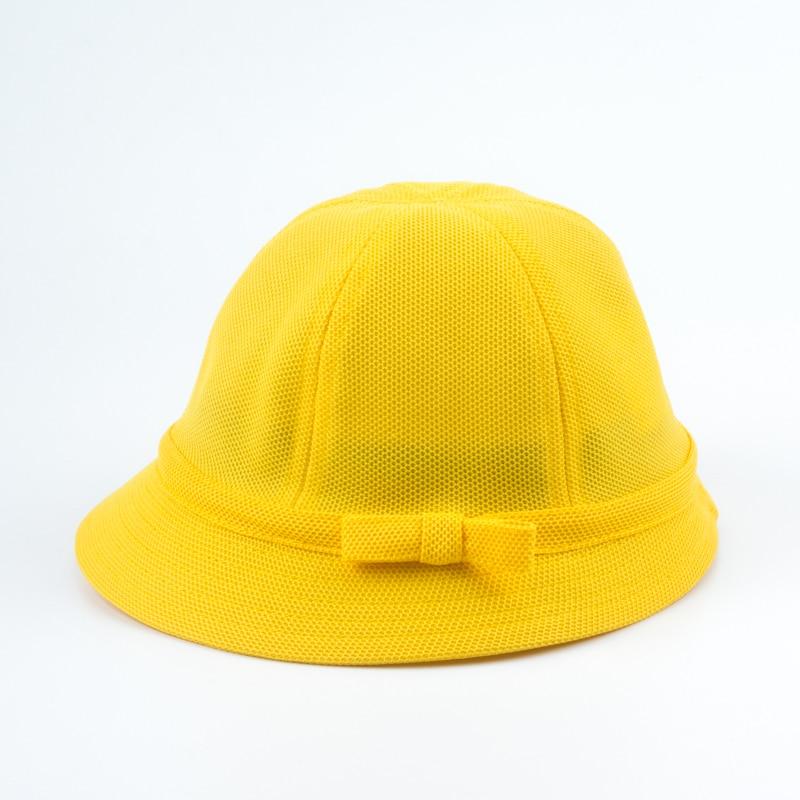 Girls Summer Sun Hat Cap Bucket Cute Yellow Baby Kids Beach Cap School Japanese