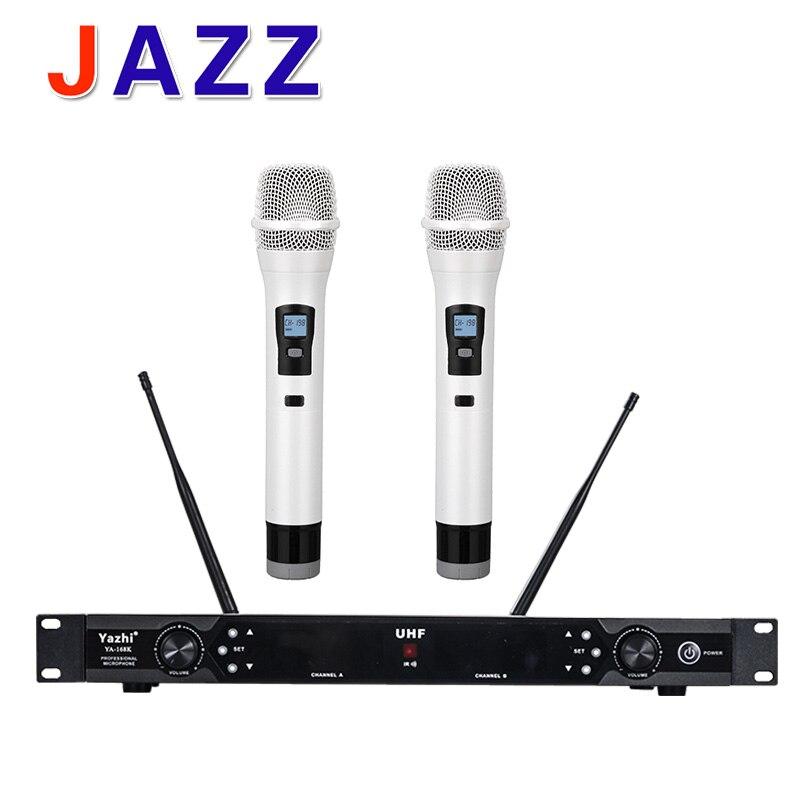 High quality YAZHI YA-168 professional, U segment anti interference wireless microphone, stage performance, conference host, KTV