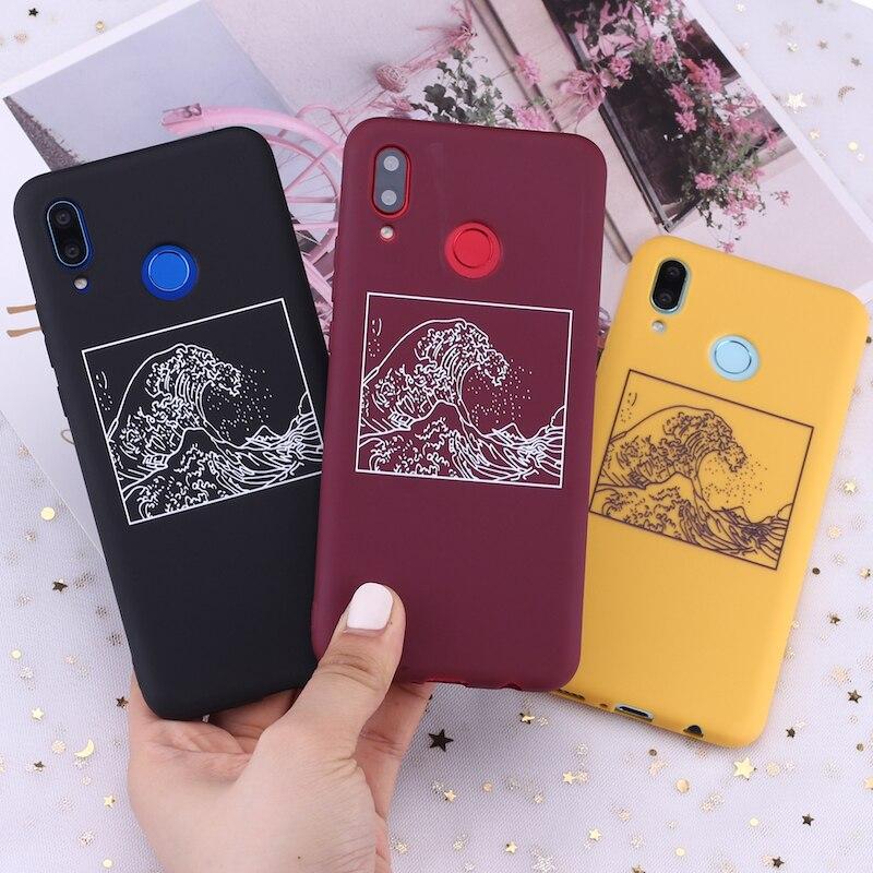 Силиконовый чехол для телефона Samsung S8 S9 S10 S10e S20 Plus Note 8 9 10 A7 A8 The Great Wave off Kanagawa Candy Специальные чехлы      АлиЭкспресс