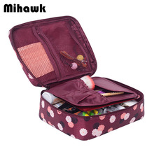 Mihawk Big Cosmetic Bag Travel Makeup Wash Case Pouch Organizer Beauty Products Brushes Lipstick Toiletry Storage