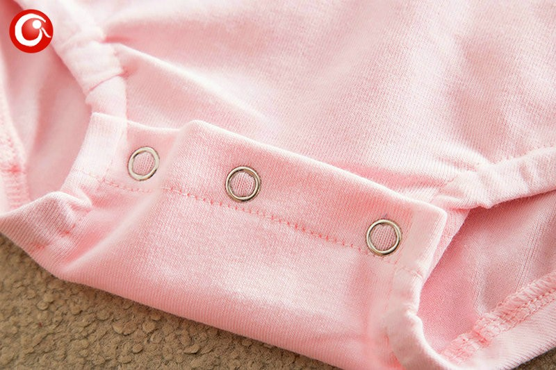 2016 Casual Pink Baby Bodysuit With Lace Princess Newborn Girls Cotton Long Sleeve Body Clothes Infant Underwear For Christmas (1)