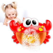 SLPF New Bubble Crabs Baby Bath Toys for Children with Sucker  Music Bathroom Shower Pool Bathtub Soap Swimming Kids Oyuncak L07