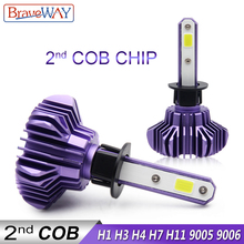 BraveWay LED Light Bulbs for Car Headlight H11 Light Lamp H1 H7 Led H4 80W Canbus HB3 BH4 9005 9006 12000LM 12V Led H7 Bulbs H1 braveway h1 led headlight for car h7 led bulb h11 lights for auto 9005 9006 hb3 bh4 lamp h4 12000lm 6500k 80w 12v 24v car light