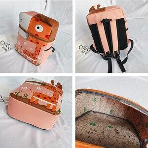 Image 5 - Школьная сумка рюкзак с изображением животных из мультфильма для девочек и мальчиков, Детский Рюкзак mochila, Детская сумка, ортопедический рюкзак