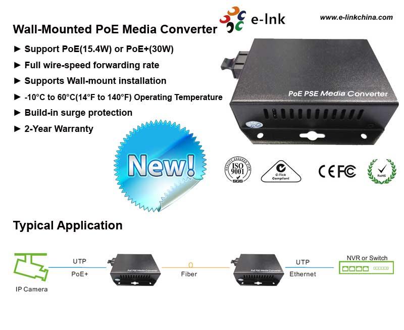 25,5W SM Dual Fiber 10/100 Mbps Fast Ethernet PoE / PSE Conversores - Equipamento de comunicação - Foto 2