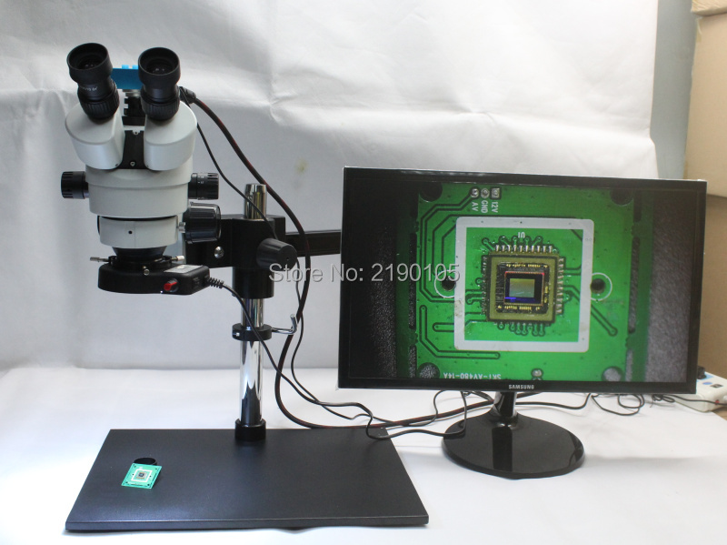 3.5X~90X Trinocular Guide Stereo Zoom <font><b>Microscope</b></font> 16MP 1080P 60FPS HDMI <font><b>USB</b></font> Video Camera 25cm Working Distance PCB Inspection image