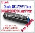 Para impressoras A Laser Oki B411 B431 Cartucho de Toner, Recarga De Toner Para Impressora Oki B411d B411dn B431d B431dn, 44574701 44574703,4 K
