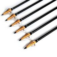 125 granos de oro consejos de caza puntas de caza de tiro con arco arco y flecha de tiro al aire libre animales cazan puntos 12 unidades
