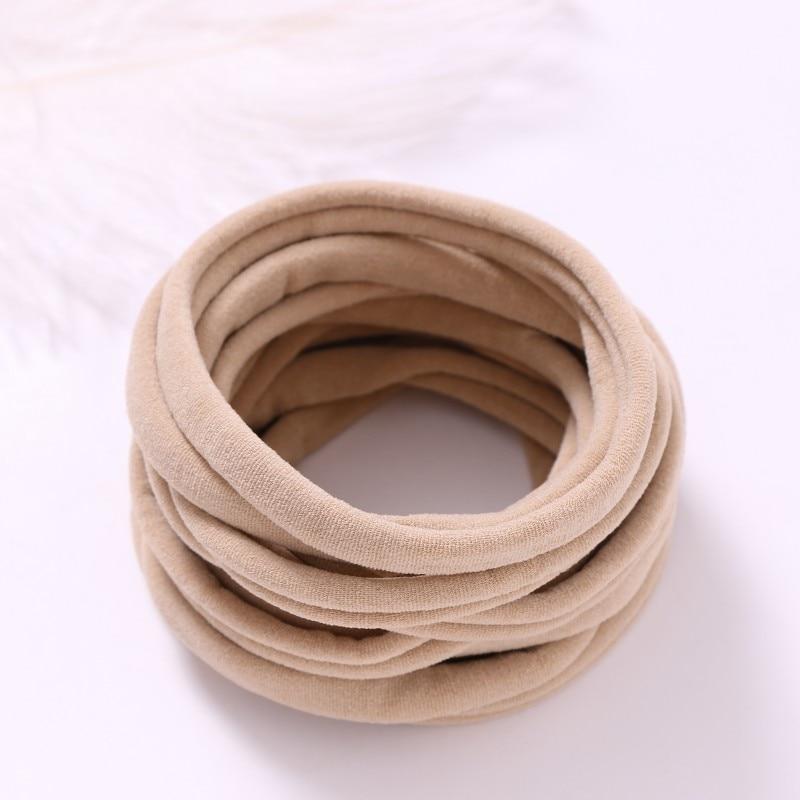 AU Seller 40pcs Nude Nylon Headband Thin-Super Soft-Stretchy-Non Dents