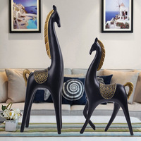 2pcs Set Resin Crafts, Scandinavian Household Crafts, Horse Ornaments, Wedding Gifts, Creative Gifts Home Decoration Figurine