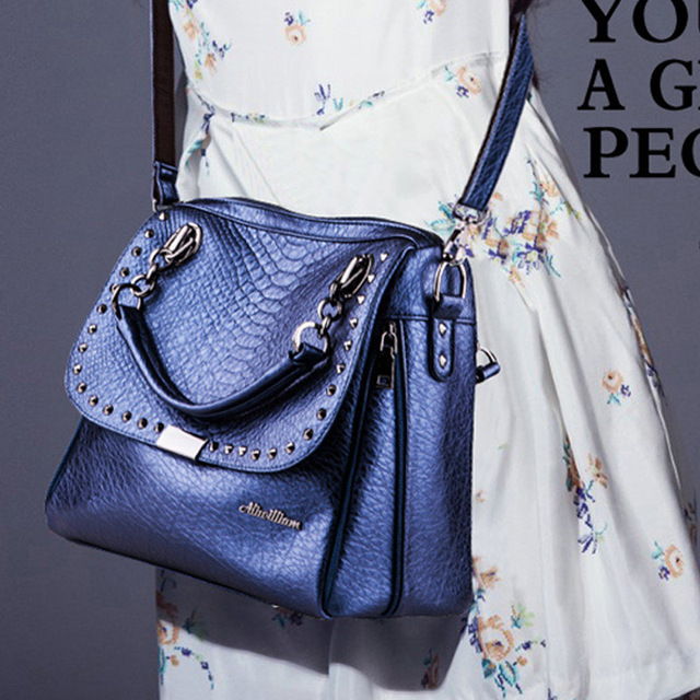 Fashion Studded handbag high quality totes women clutch wallet women famous designer messenger bag
