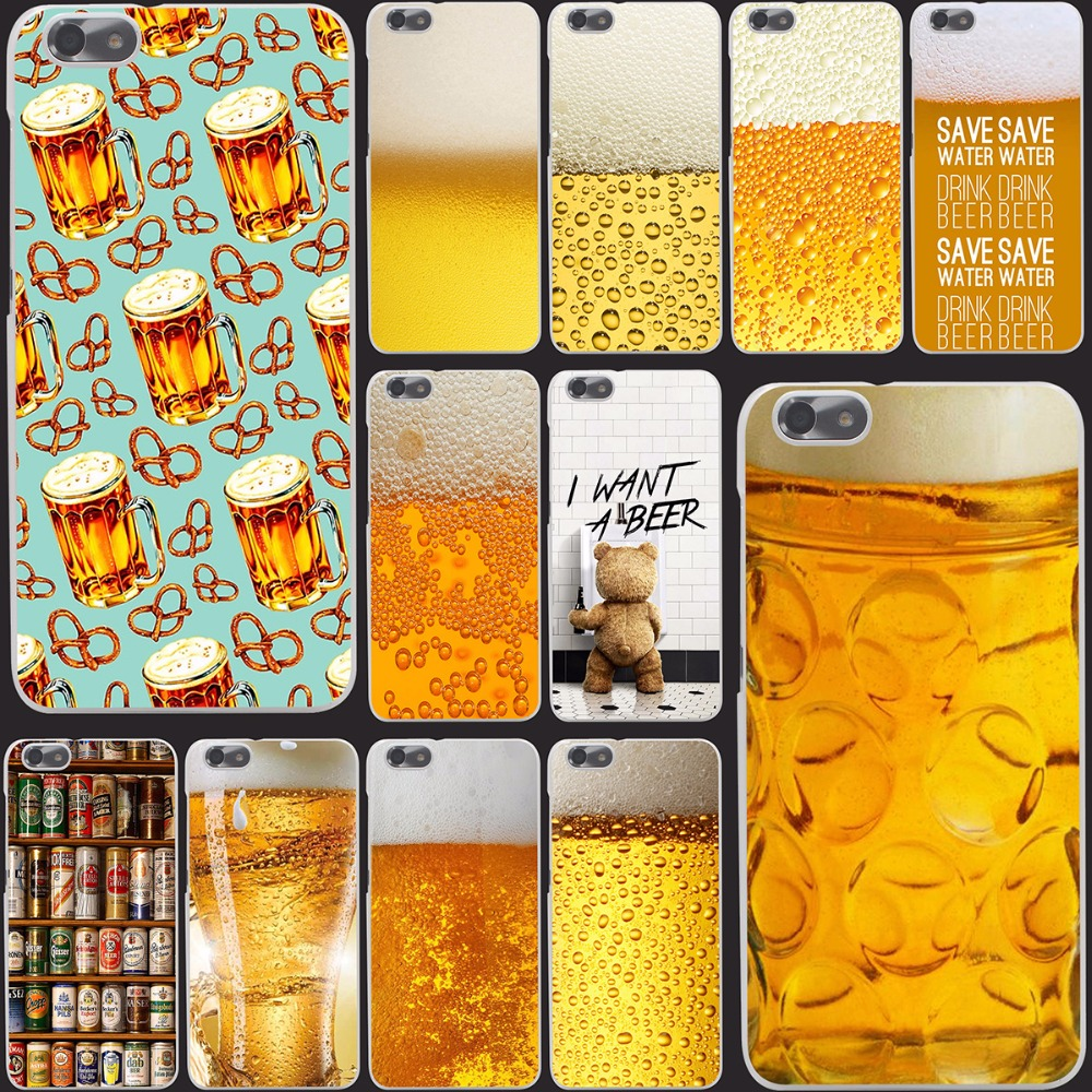 The Iced  A Glass of Beer Cool Summer Luxury Bubble phone Hard Case Cover for Huawei P6 P7 P8 P9 Lite Plus & Honor 6 7 4C 4X G7