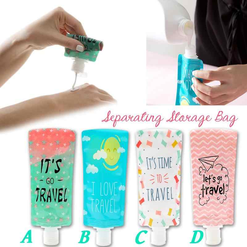 Trip Folding Lotion Separating Storage Bag Portable Shower Gel Shampoo Bottle Face Washing Lotion Storage Bag Squeeze Makeup Con