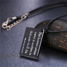 Anime Death Note black book shape pendant necklace cosplay jewelry
