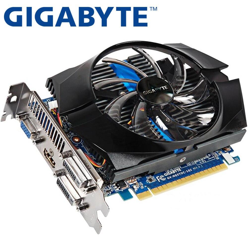 Placa gráfica gigabyte gtx 650 ti 1 gb 128bit gddr5 placas de vídeo para nvidia geforce gtx650 ti usou cartões vga mais forte do que gtx 750