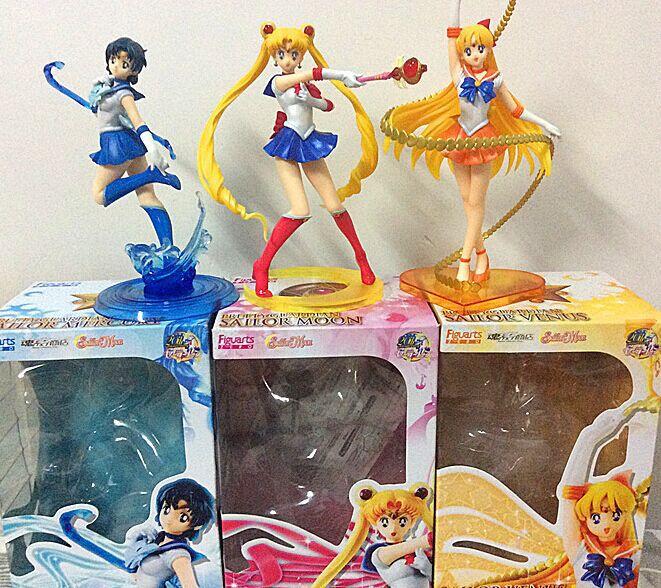 Figuarts Zero Sailor Moon Sailor Venus Mercury PVC Action Figure Model Toy 17cm Free Shipping anime figuarts zero sailor moon sailor venus minako aino 20th anniversary pvc action figure collectible model toy 17cm t3099