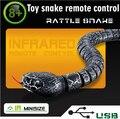 Nueva Caliente 1 unids Serpiente Mascota Electrónica de control Remoto de Alta Simulación Creativa Regalos de Navidad juguetes para los niños